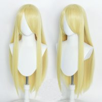 Cosplay wig / blond / straight / with bangs | Crown &...