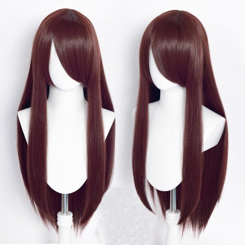 Cosplay wig / brown / straight / with bangs | XXX
