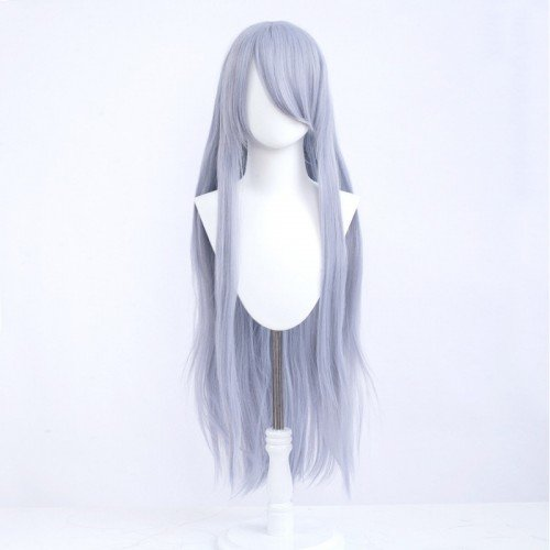 Cosplay wig / Purple / straight / with bangs 100cm   Fancy & Seashell Mix