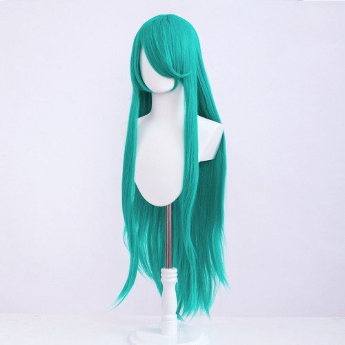 Cosplay wig / green / straight / with bangs 100cm | S55  its so catchy