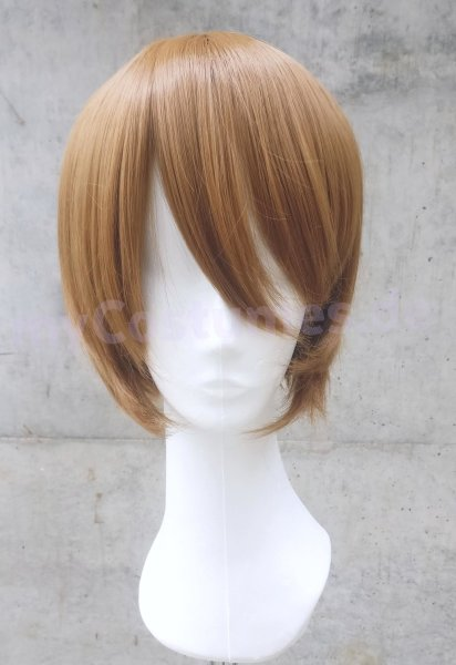 Cosplay Wig / brown / short straight / with bangs | N28 Tobacco