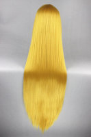 Cosplay Wig / yellow 100cm straight with bangs | S08 Gold