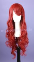 Cosplay Wig / red curly with bangs 80cm | S16 Lipstick