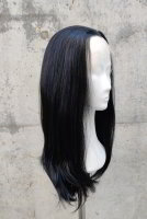 Black lace front wig 60cm straight | N02 Black