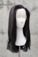Natural black Lace Front wig 60cm straight | N03 Ebony