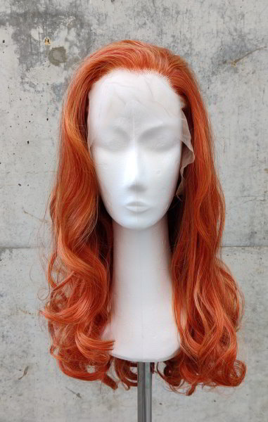 Red Lace Front wig 60cm curly | Garnet