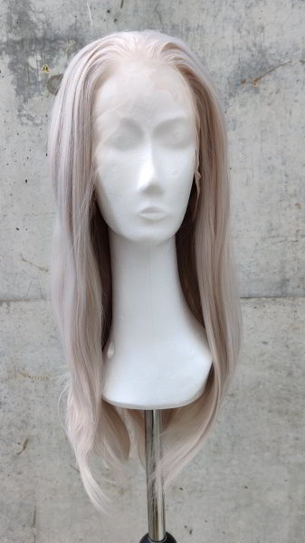 Grey Lace Front wig 60cm straight | V78 Fullmoon