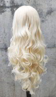 Light blond Lace Front wig 60cm curly | N01 Snowwhite & N37 Light Blond Mix