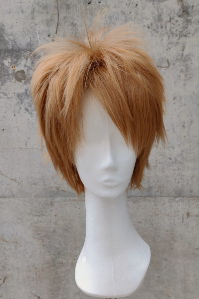 Cosplay wig brown | spikey step cut | Tobacco & Toffee Mix