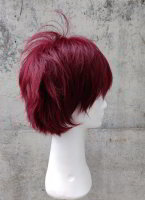 Cosplay wig wine red | spikey step cut | N21 Bordeaux