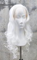 White Lace Front wig 60cm curly | N01 Snowwhite