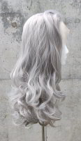 Grey Lace Front wig 60cm curly | S88 Silver