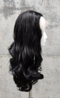 Natural black Lace Front wig 60cm curly | N03 Ebony