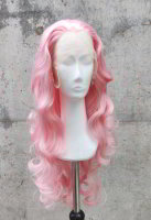 Pink Lace Front wig 60cm curly | Rosé