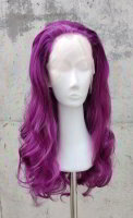 Purple Lace Front wig 60cm curly | Eggplant