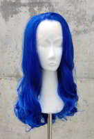 Blue Lace Front wig 60cm curly | Darkblue