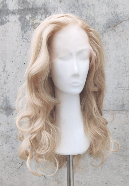 Blond Lace Front wig 60cm curly   N37 Light Blond & Almonde Mix